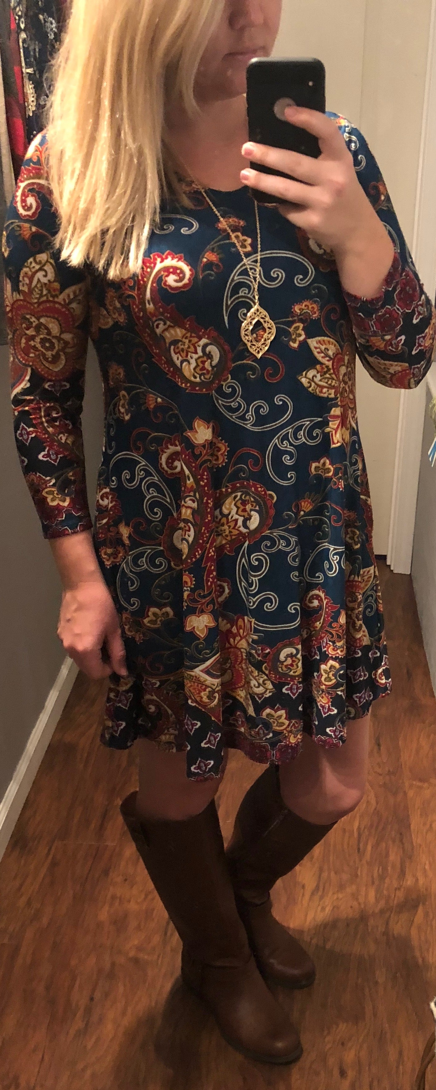 HM Vneck Border Dress (Plus)