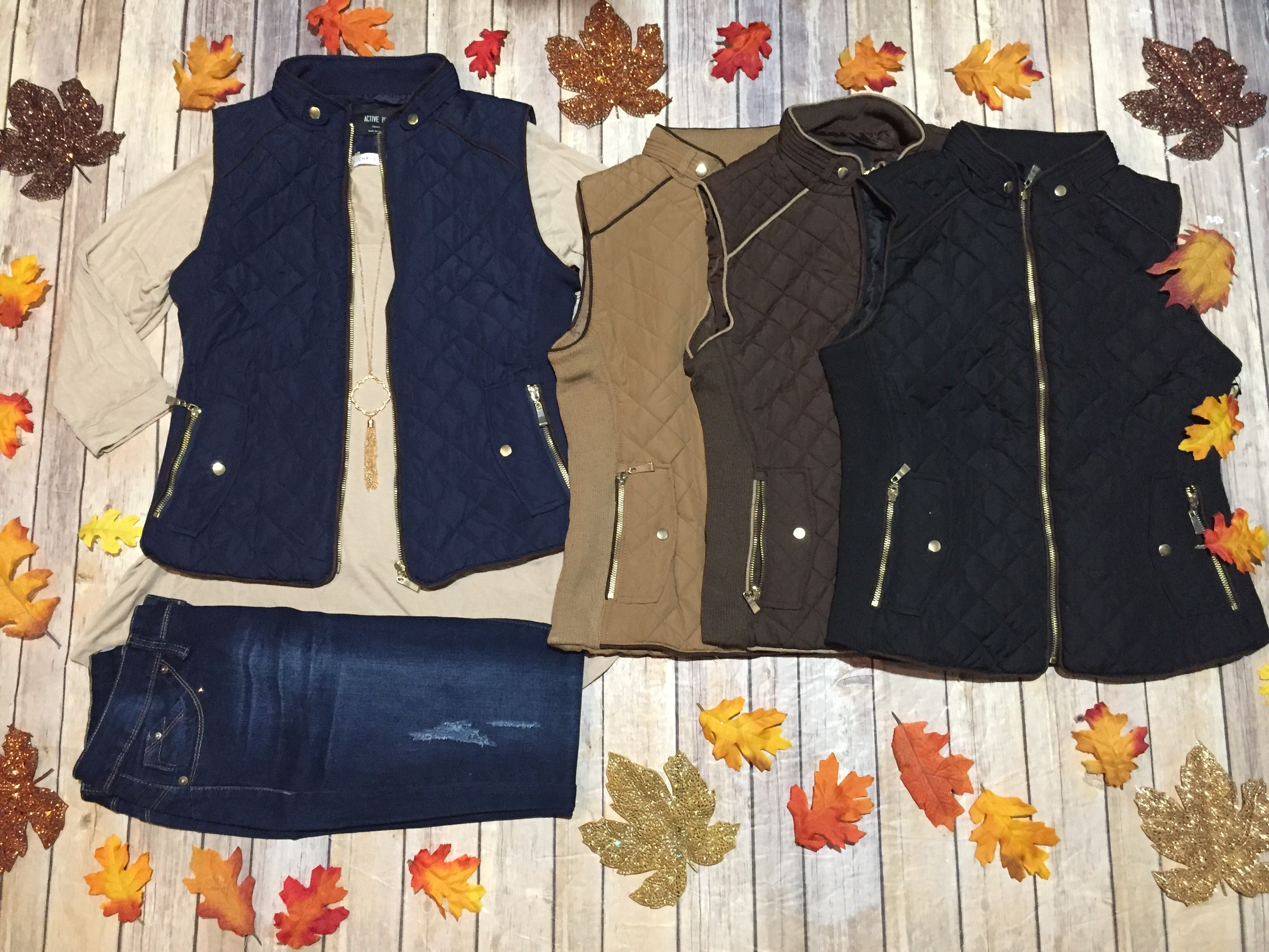 Fall Quilted Vest (Regular & Plus)
