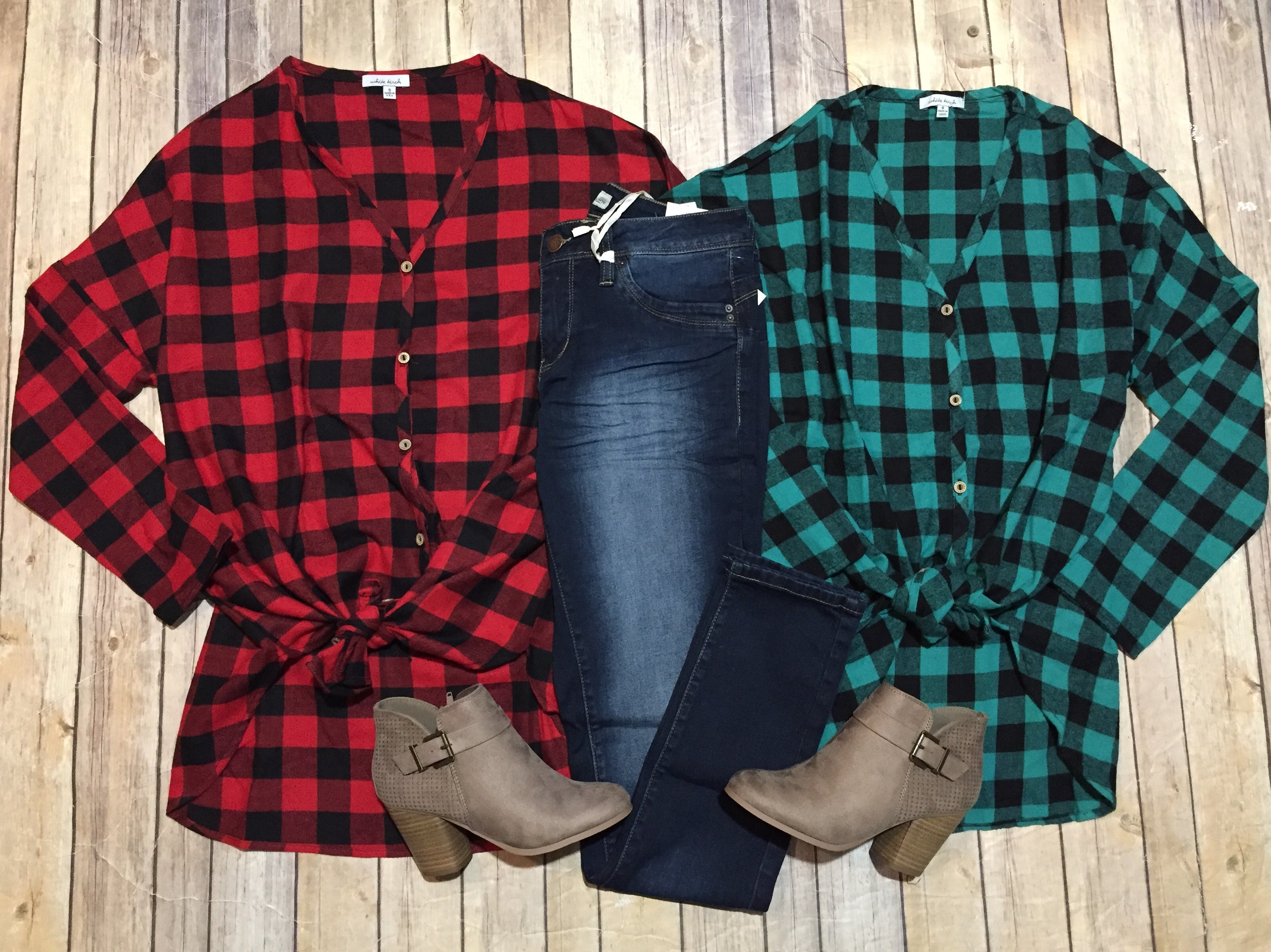 Oversized Plaid Wear Two Ways Top