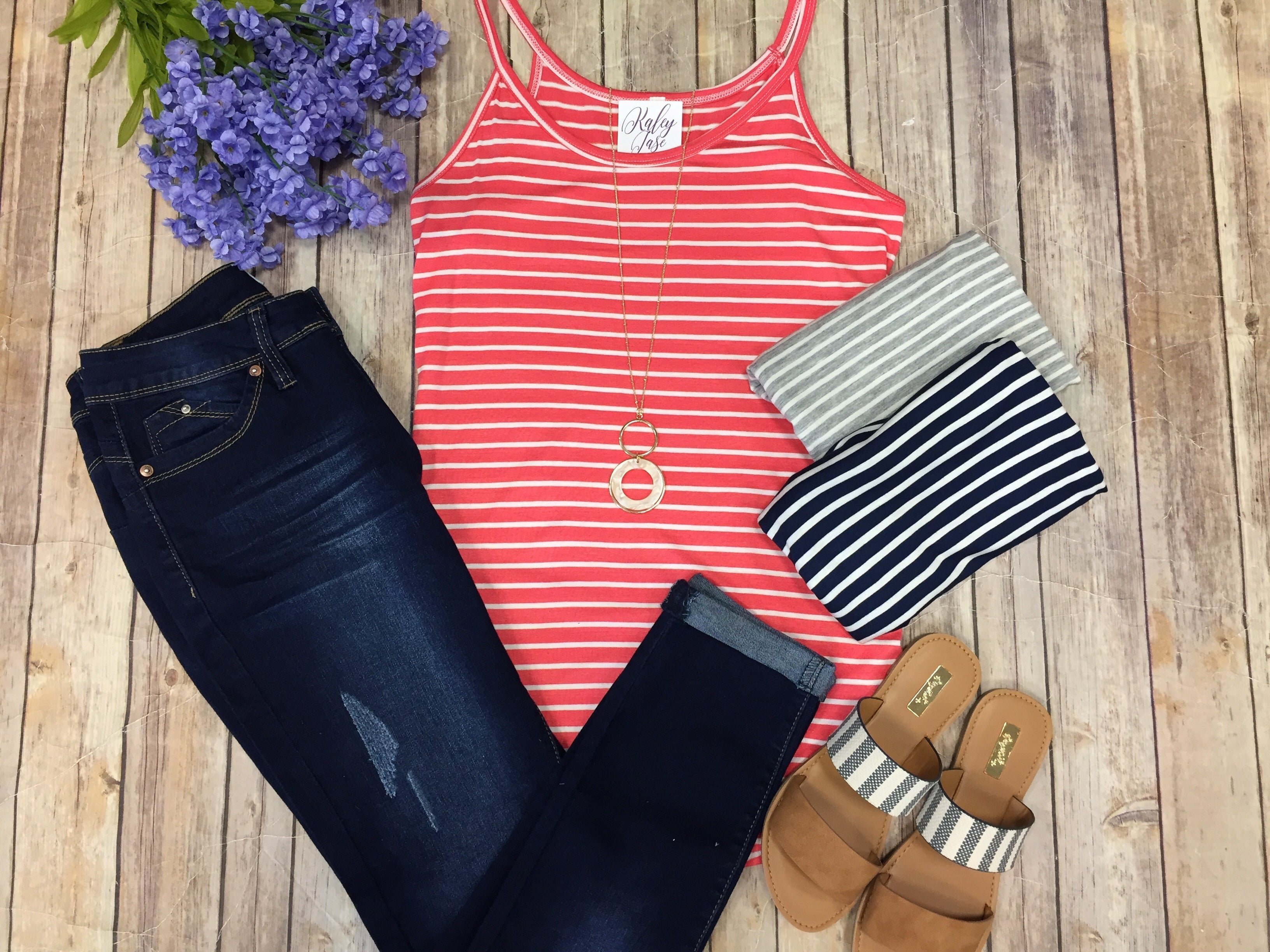 Spaghetti Stripe Tank Top
