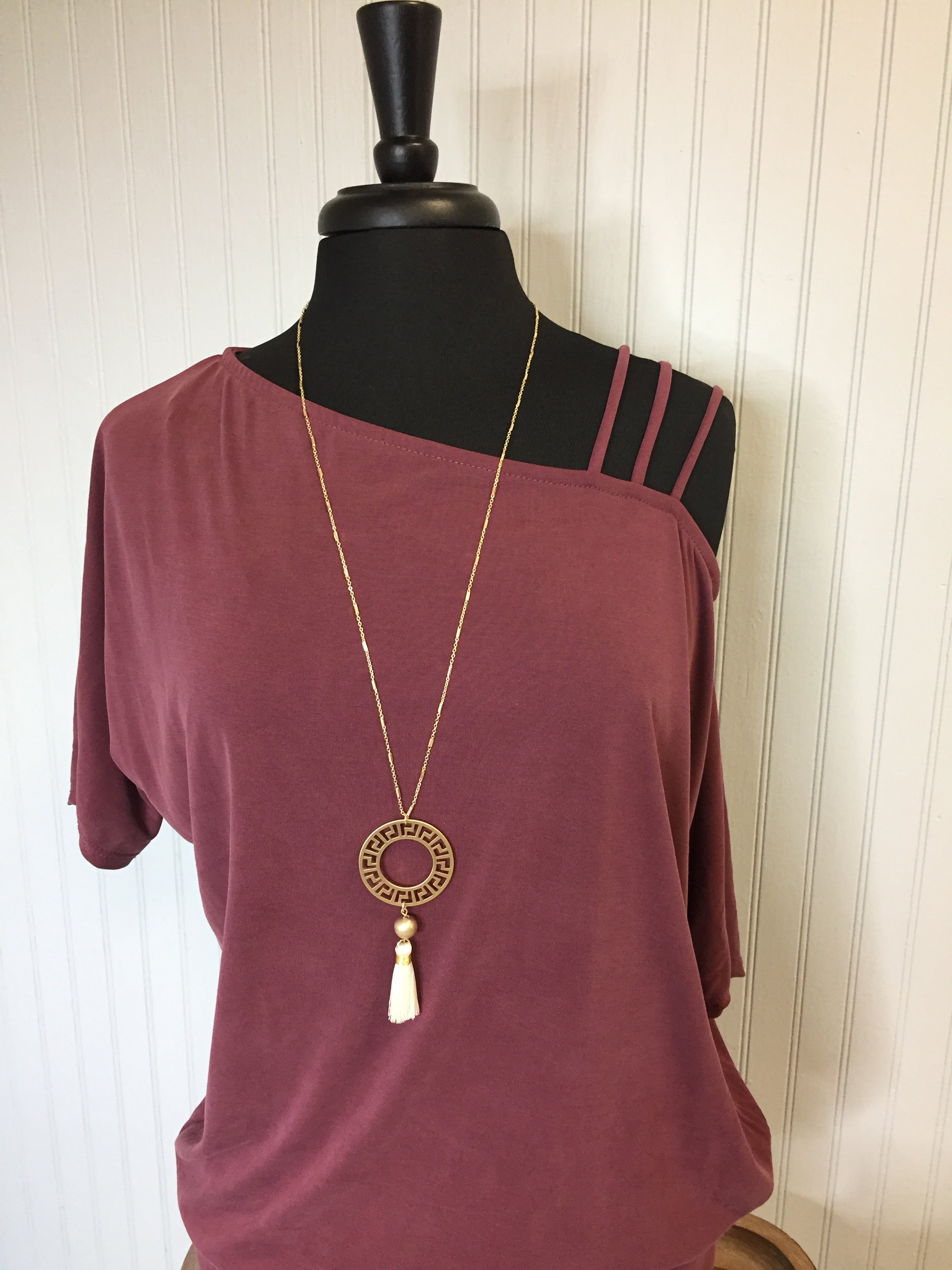 Circle Maze Tassel Necklace #33