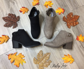 Buckle Heel Booties