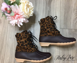 Leopard Duck Boots *Final Sale*