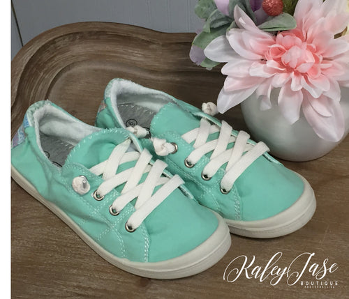 Mint Slide On Sneakers