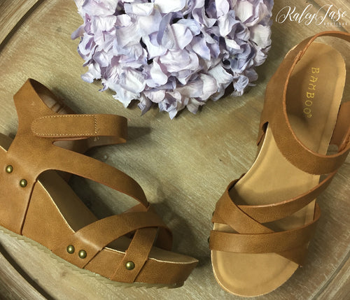 Tan Cross Wedges