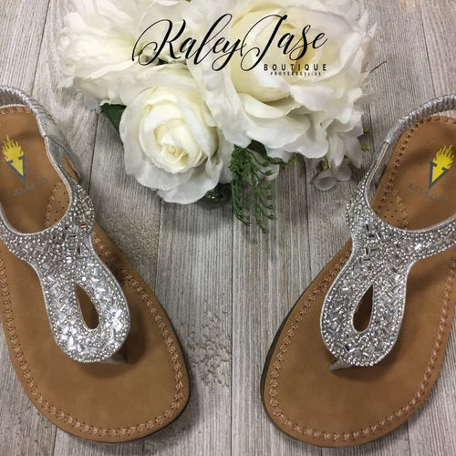Silver Jewel Padded Sandal
