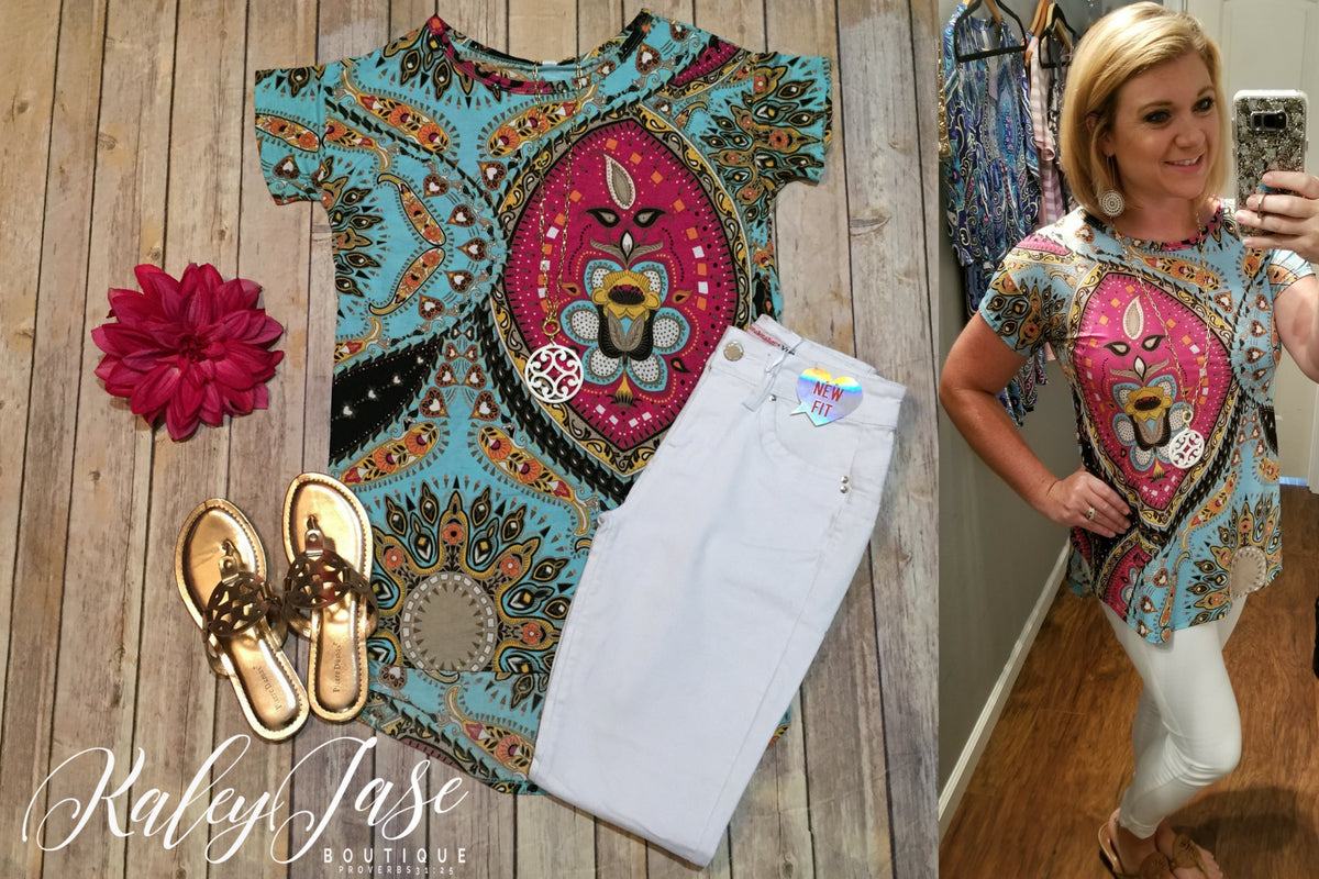Mint Lion Paisley Top (Regular & Plus)