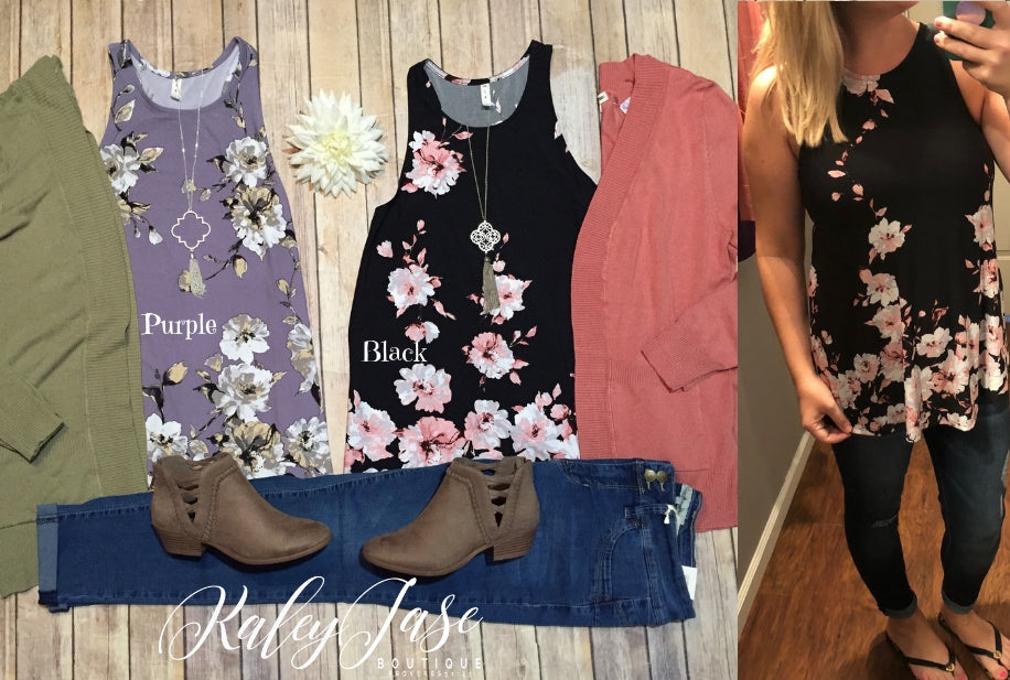 Fall Floral Tanks