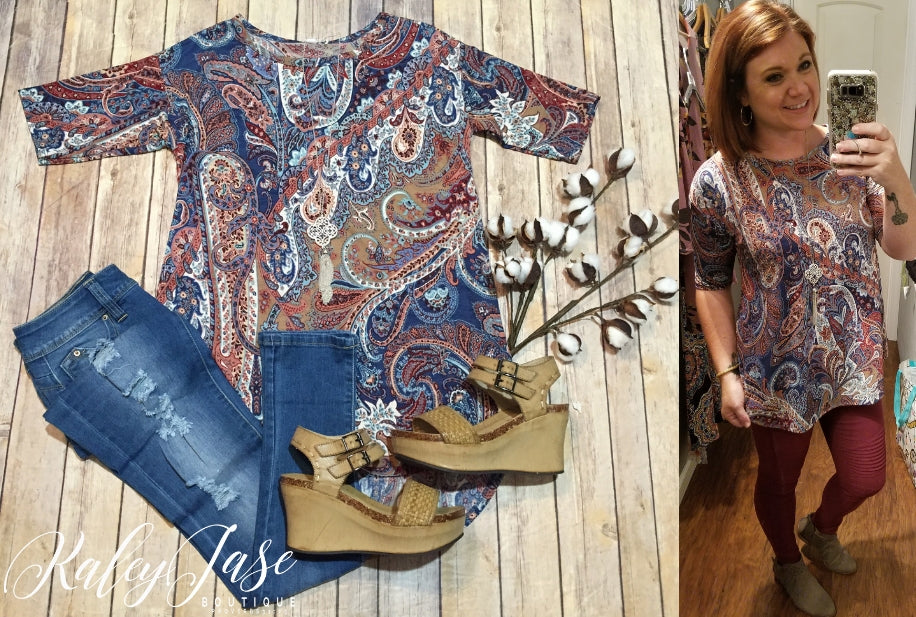 Fall Paisley Top (Regular & Plus)
