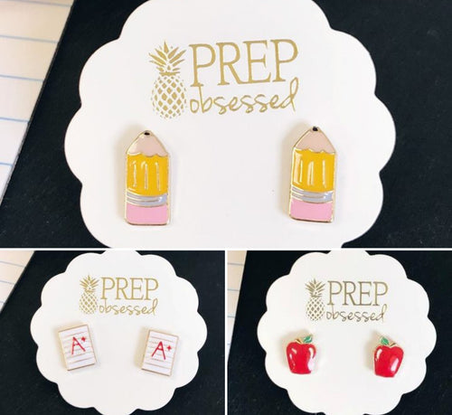 Teacher Earrings -D4