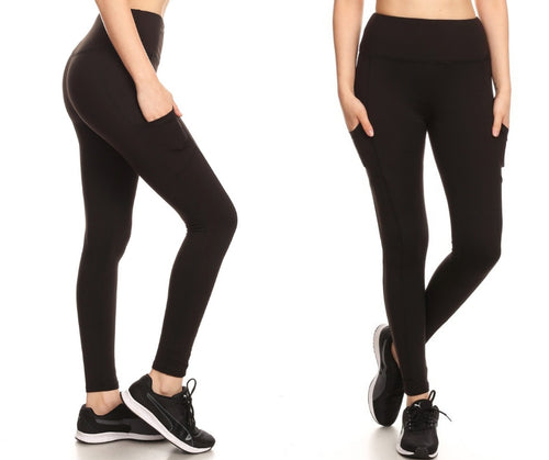 Workout Leggings with Cell Phone Pocket