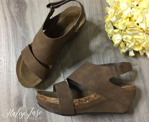 Tan Wrapped Heel
