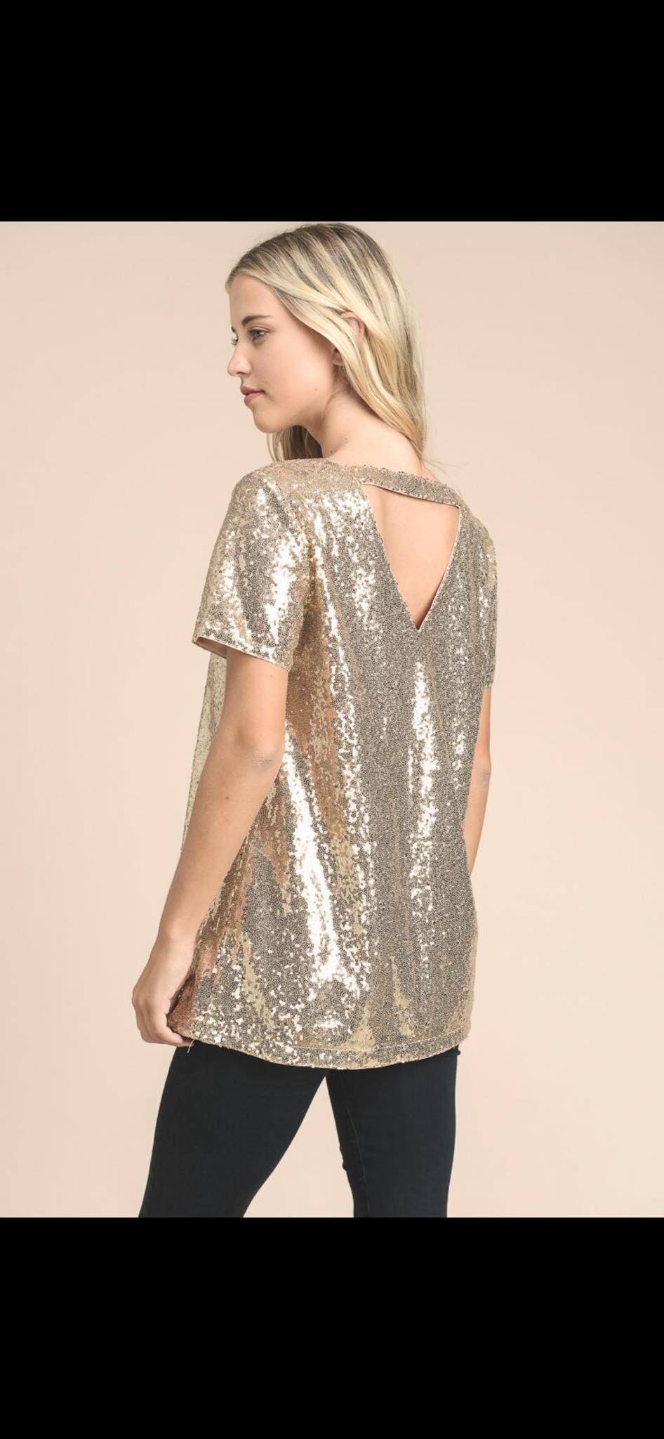Holiday Sequin Dressy Top