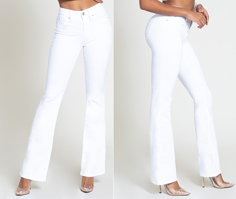1196349d393ccd YMI Luxe Lift White Flare Jeans – Kaley Jase Boutique