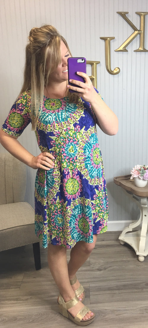 Royal Lime Burst Dress
