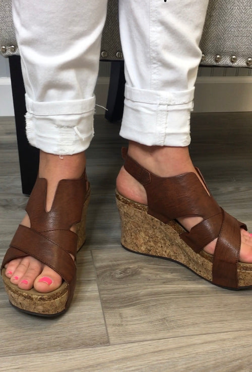 Dark Camel Dip Wedges