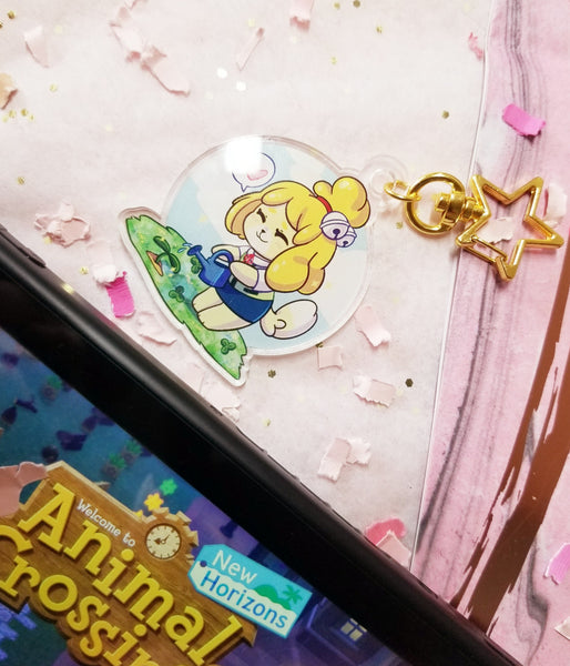 Animal Crossing ☆ Isabelle's Garden Acrylic Charm