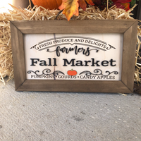 Fall Market 6x12 Framed