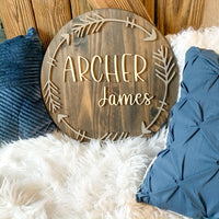 18 inch Boho Arrow Nursery Sign