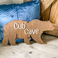 "20"" Bear Cut Out-Cub Cave"