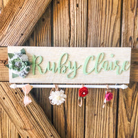 Headband Bow Holder Nursery Sign