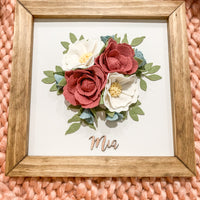 Nursery Sign-Felt Floral Arrangement with First Name