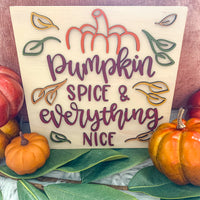 "8""x8"" Pumpkin Spice Sign"