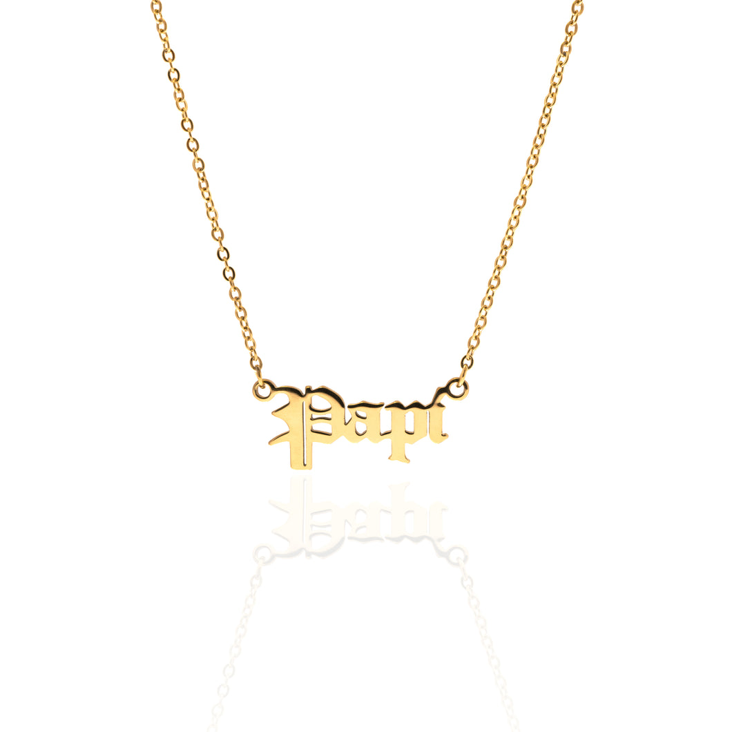 Gold Papi Necklace