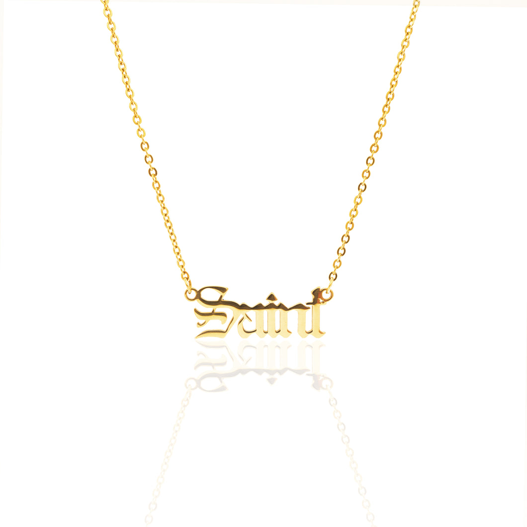 Men's Gold Saint Statement Necklace