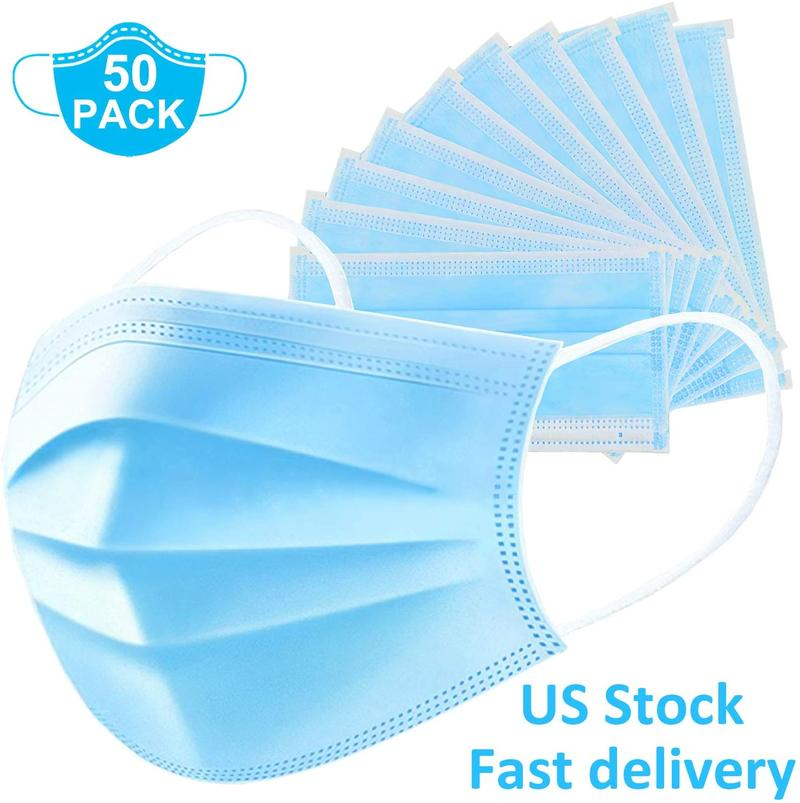 3-PLY Disposable Surgical Face Mask 50 pcs / pack (FDA Certified) - Foxglobalmed.com