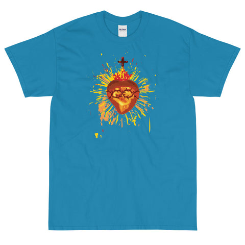 Sacred Heart of Jesus (yellow/brown image)