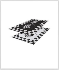 Racing Flag Mat 9X6