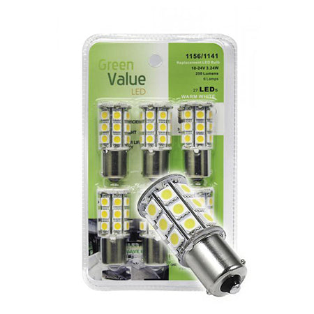 LED Bulb 6 Pack Replaces 1141/1003/1156