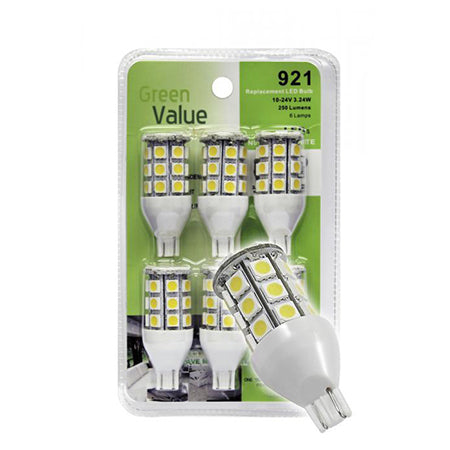 LED Bulb 6 Pack Replaces 912 / 921