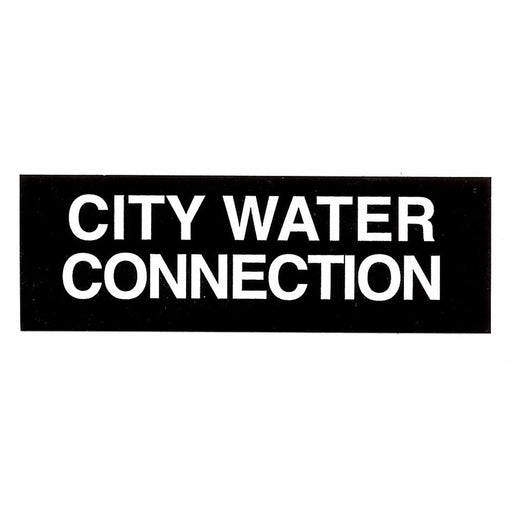 Safety Label City Water