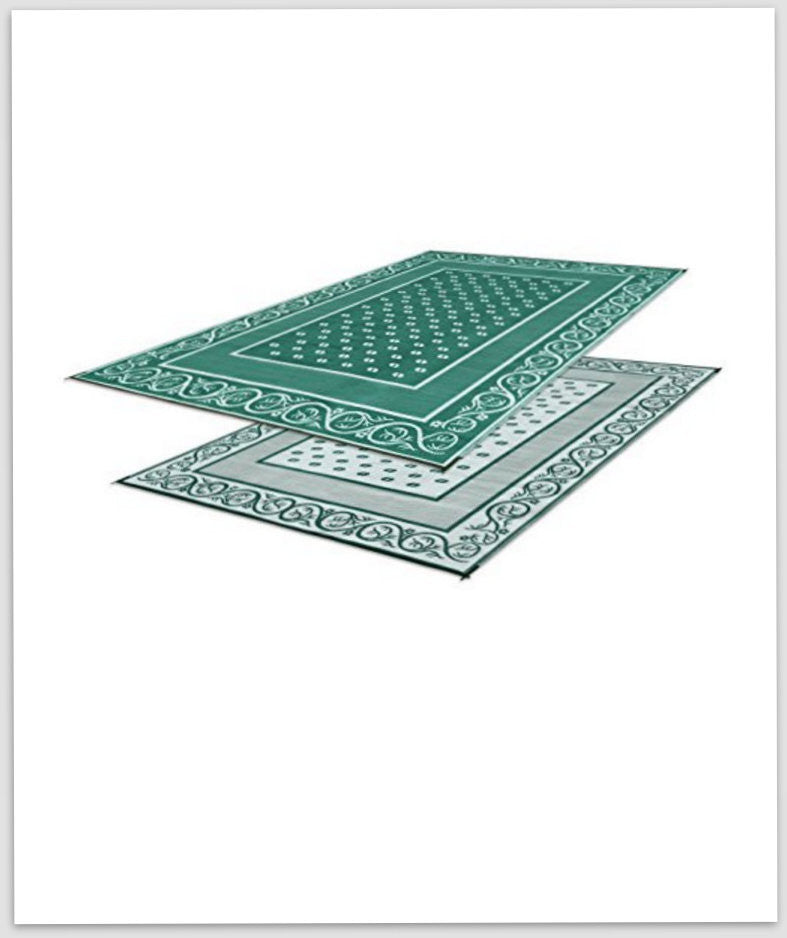 Green Reversible Mat 9X6
