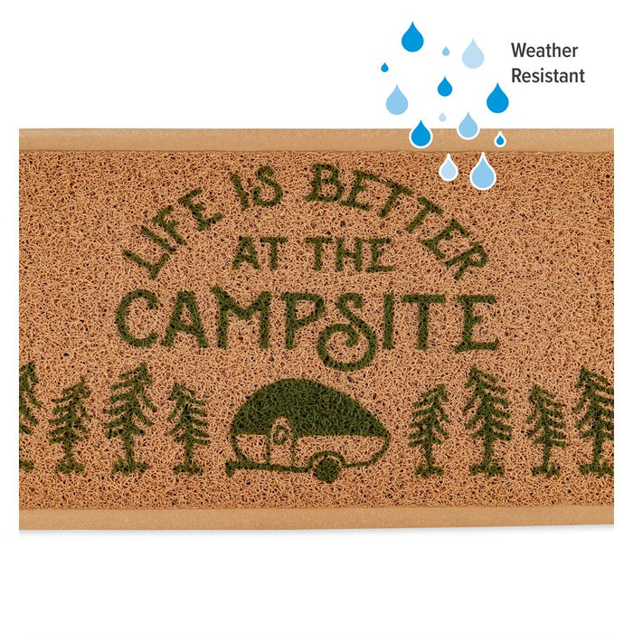 Life Is Better At The Campsite Brown Rug