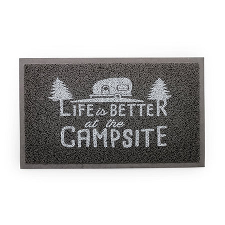 Life Is Better At The Campsite Gray Rug