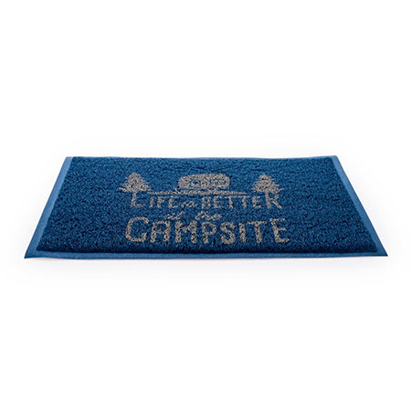 Life Is Better At The Campsite Blue Rug