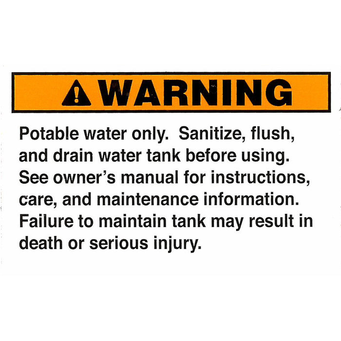 Safety Label Water