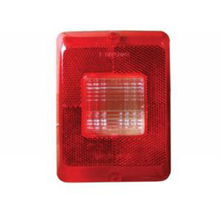Square Tail Lamp Lens Red With Reverse