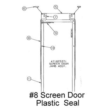 Screen Door Canvas Seal