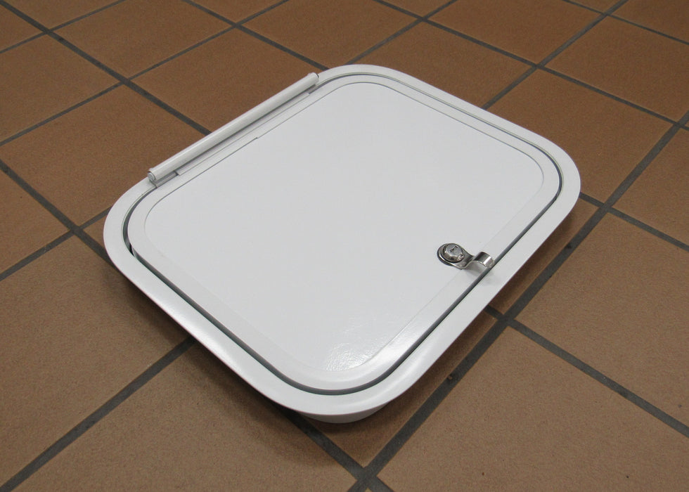White Potty Door Hatch