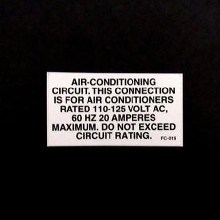 Safety Label A/C Power