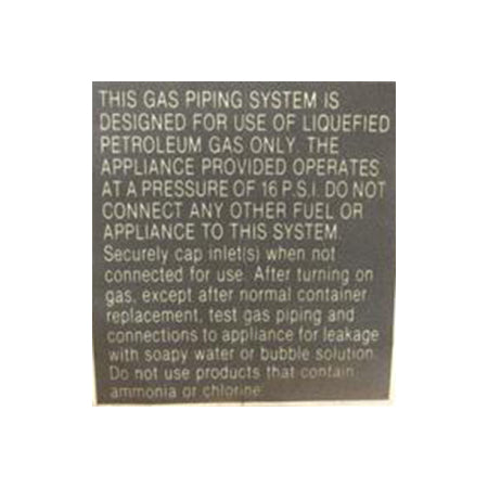Safety Label Propane/LP Gas