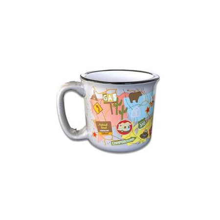 Retro Mug Travel Map