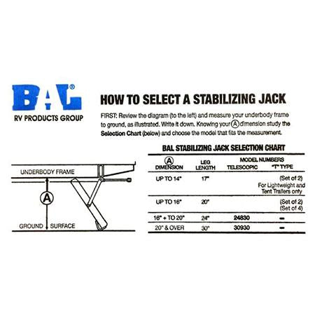 "Stabilizer Jack 17"" Reach"