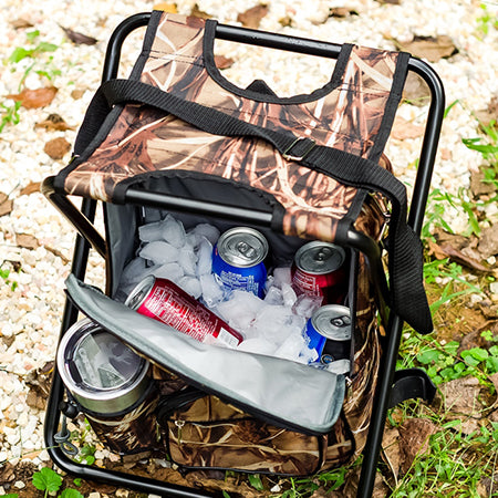 Camping Backpack/Cooler/Seat - Camo