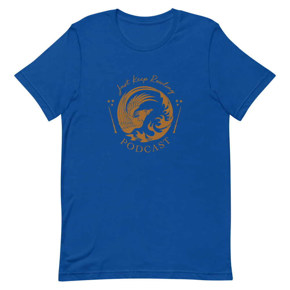 Blue and Bronze Just Keep Rowling T-Shirt