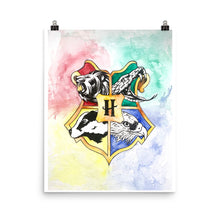 Load image into Gallery viewer, Animal Crest Watercolor Poster